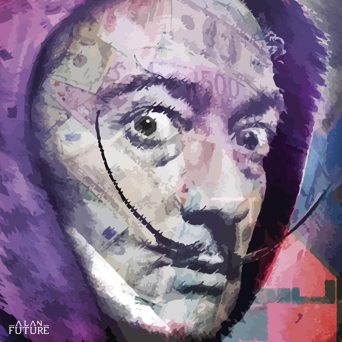 Alan Future Lagos - ilustración de Daly - Casa de Papel